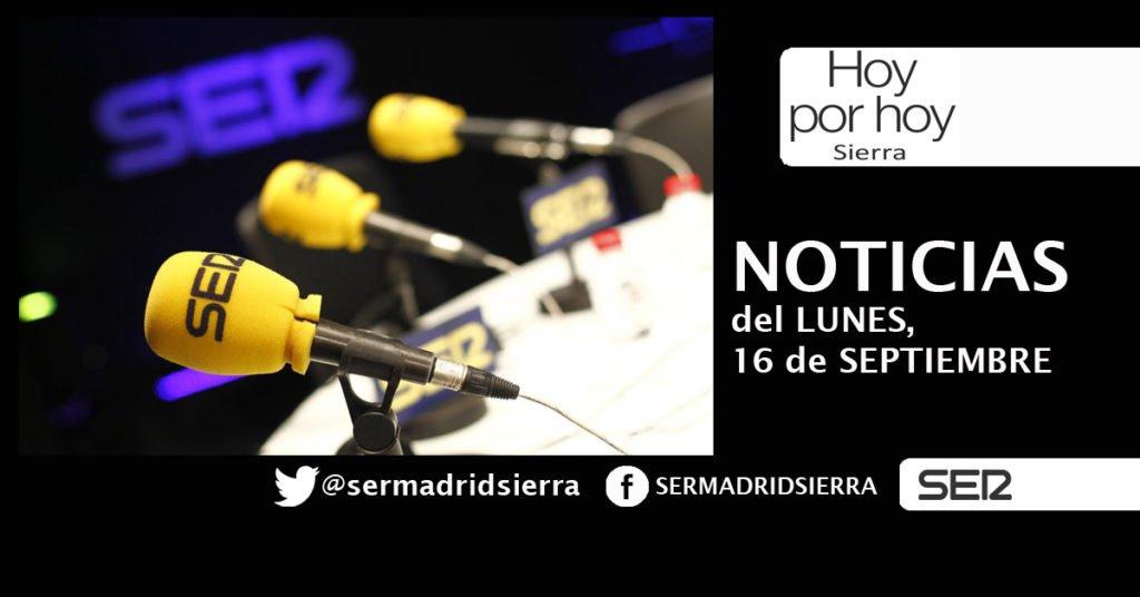 HOY POR HOY. NOTICIAS DEL LUNES, 16 DE SEPTIEMBRE