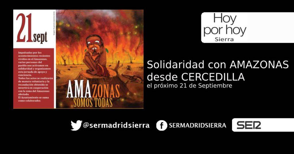 HOY POR HOY. EL SÁBADO, SOLIDARIDAD DESDE CERCEDILLA CON AMAZONAS