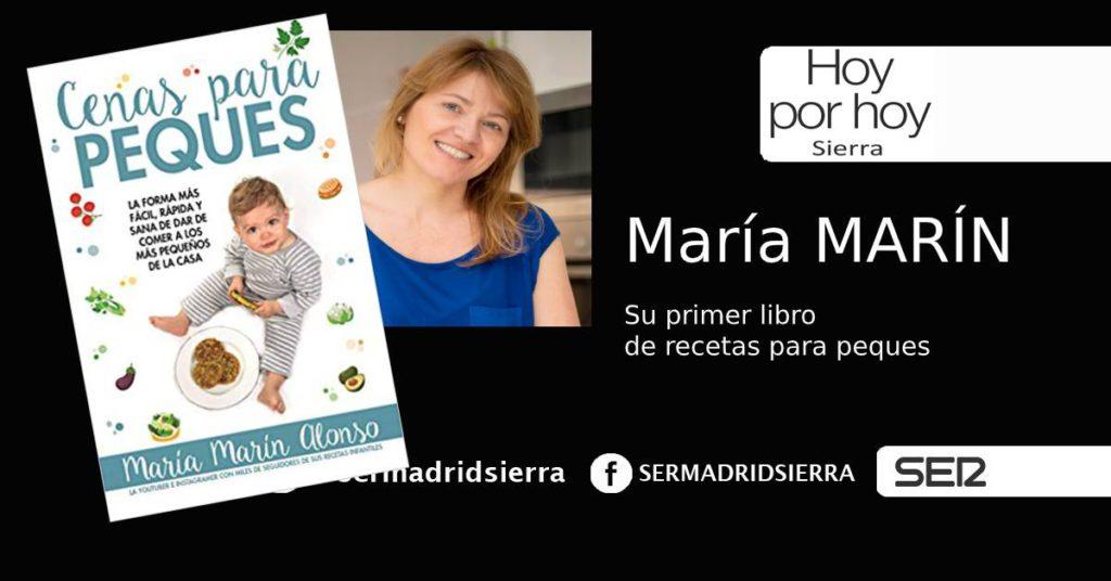 HOY POR HOY. María Marín nos habla de su libro «Cenas para Peques»