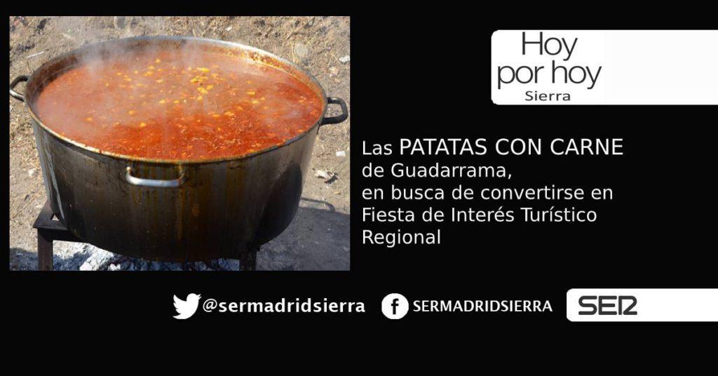HOY POR HOY. Las Patatas con Carne de Guadarrama buscan ser Fiesta de Interés Regional