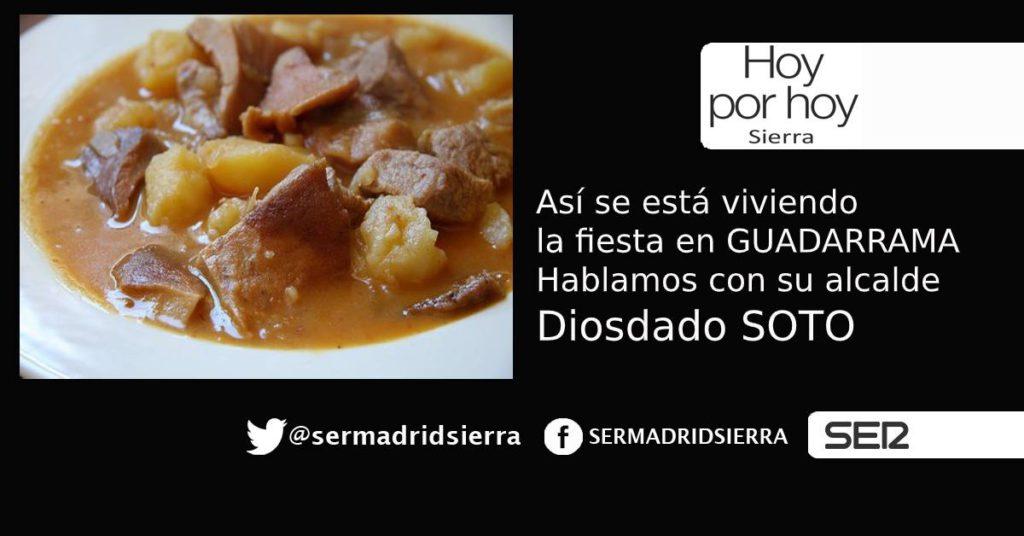 HOY POR HOY. Día de fiesta en Guadarrama. Hablamos con el Alcalde, Diosdado Soto