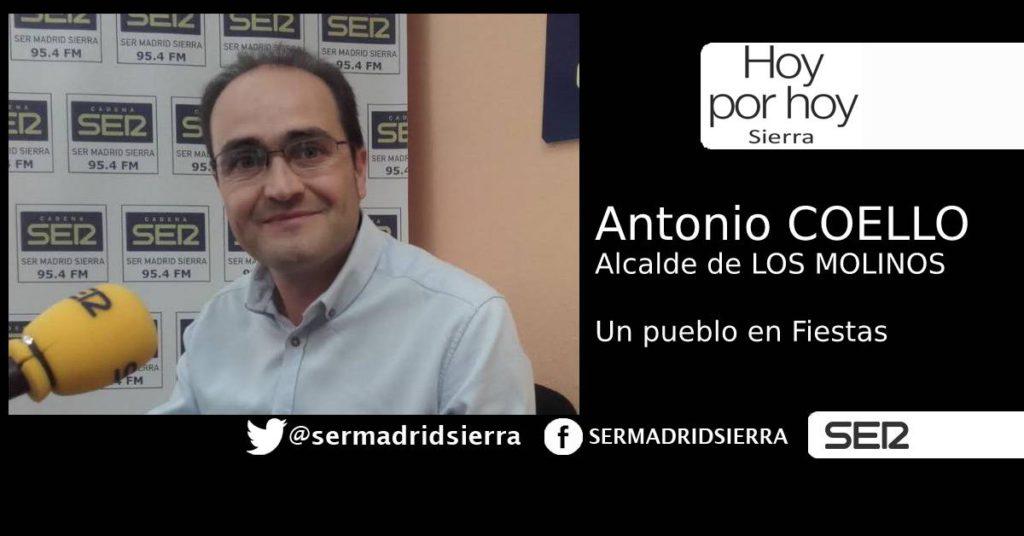 HOY POR HOY. SALUDAMOS A ANTONIO COELLO EN PLENAS FIESTAS DE LOS MOLINOS