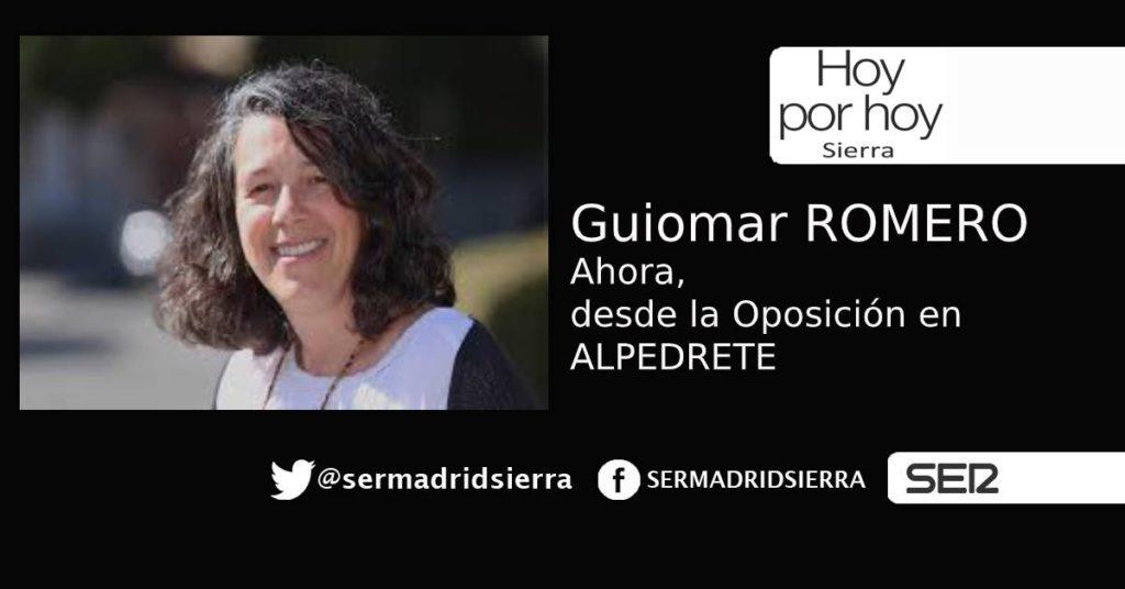 HOY POR HOY. Guiomar Romero, de «Alpedrete Puede», ahora desde la oposición