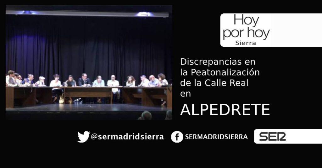 HOY POR HOY. Polémica por la peatonalización de la Calle Real en Alpedrete
