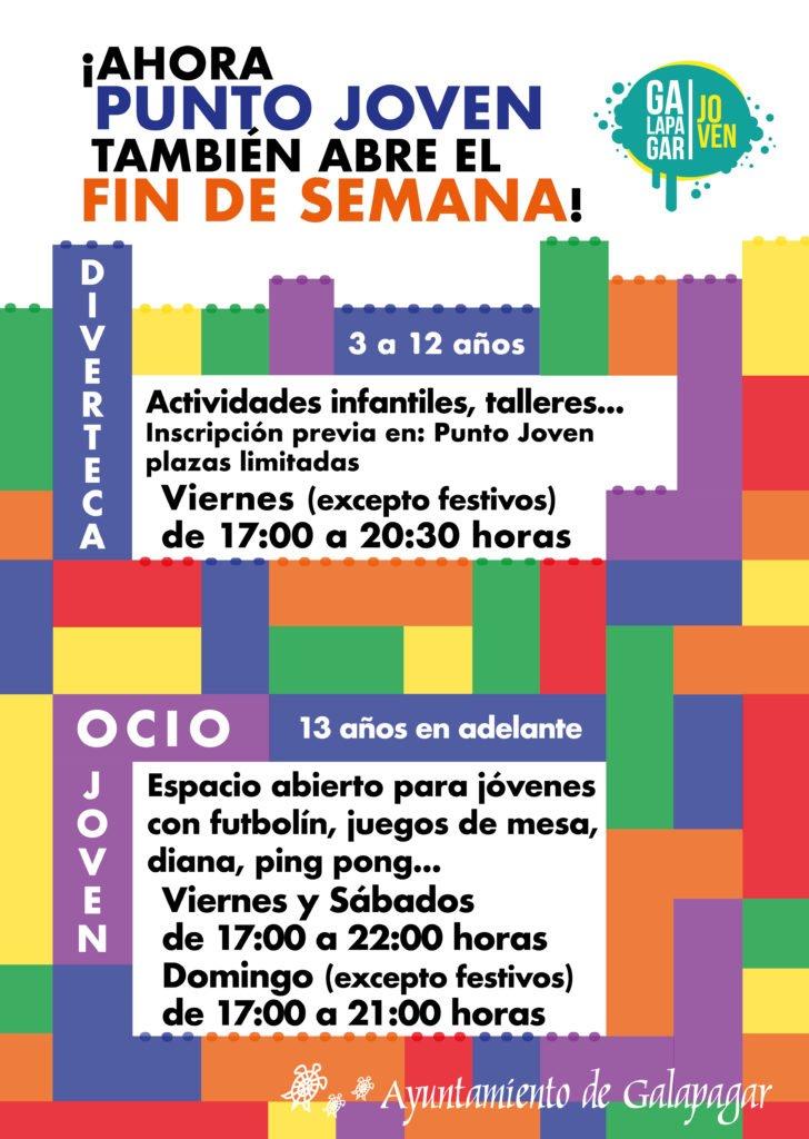 Desde este viernes, el punto joven de Galapagar abre los fines de semana