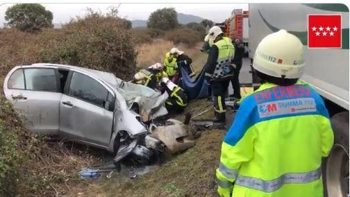 Accidente mortal en la M-601, en el término de Alpedrete