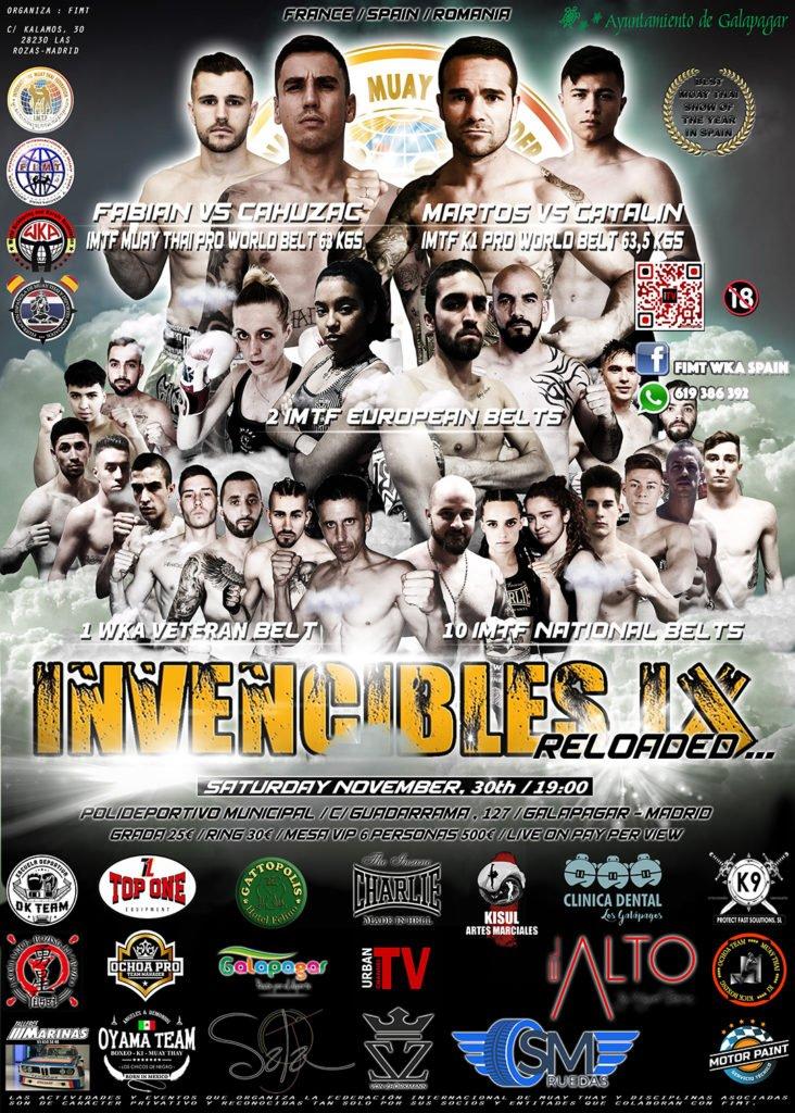 «Invencibles», una de las veladas más importantes de Muay Thai y K1, en Galapagar
