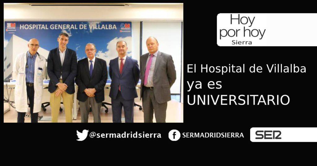 HOY POR HOY. El Hospital de Villalba ya es Universitario