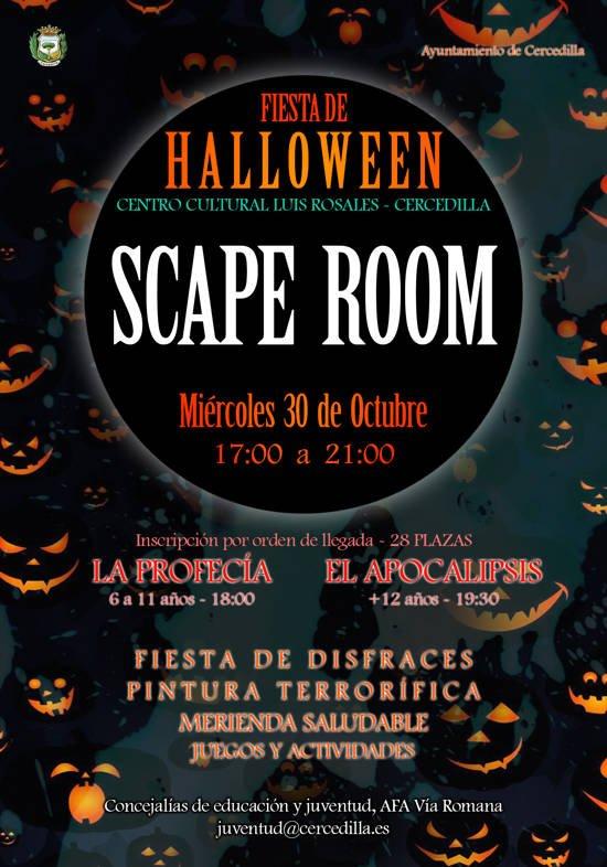 El próximo miércoles, el Centro Cultural Luis Rosales de Cercedilla acoge la Fiesta Halloween