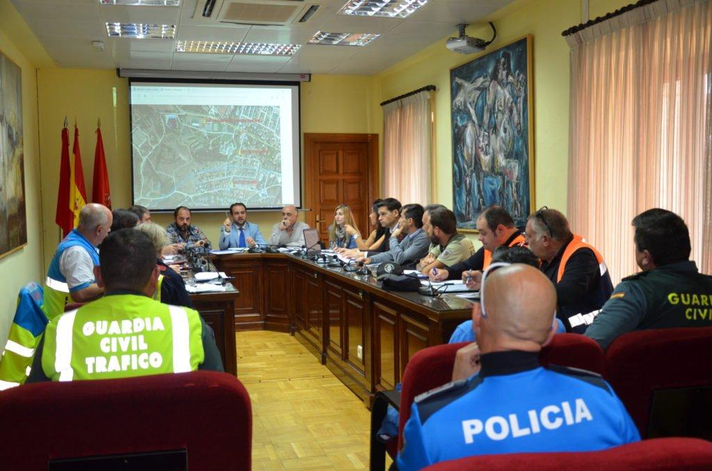 Reunión de seguridad en Guadarrama de cara al simulacro por la rotura de la presa de La Jarosa