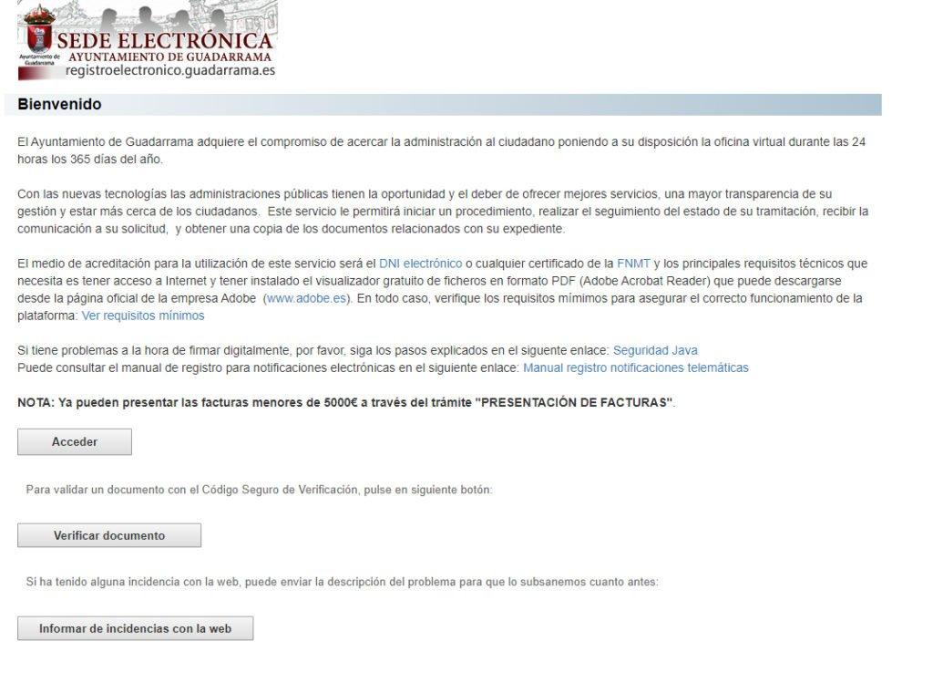 Guadarrama pone en marcha una campaña para ayudar a los vecinos a tramitar su certificado digital
