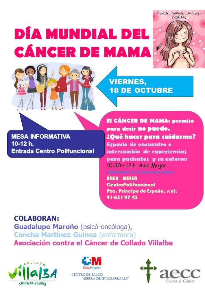Este viernes, Collado Villalba celebra el Día Mundial del Cáncer de Mama