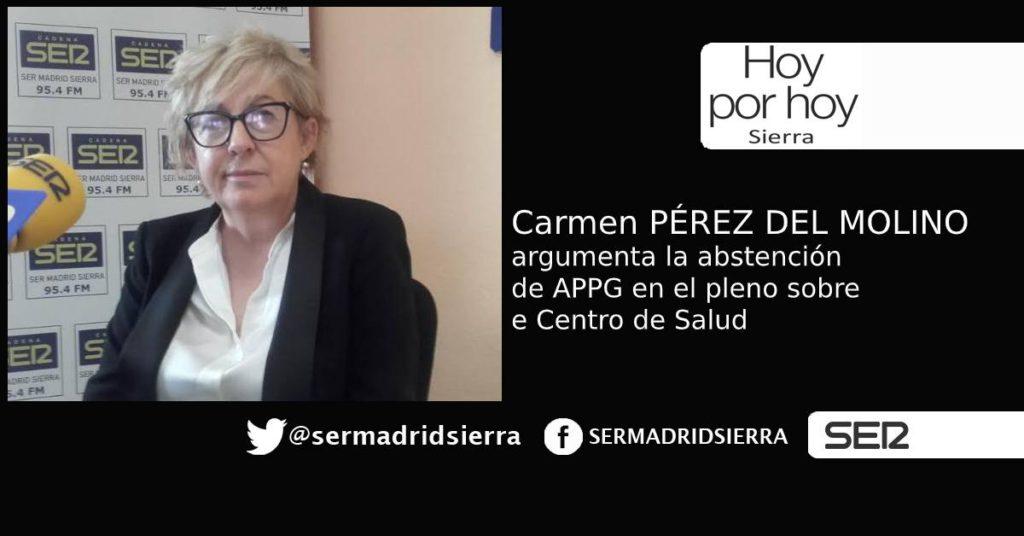 HOY POR HOY. Carmen Pérez del Molino argumenta la abstención de APPG
