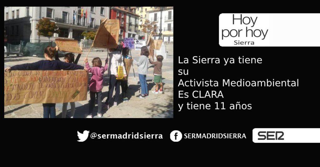 HOY POR HOY. La Sierra tiene su activista Medioambiental. Clara, 11 años