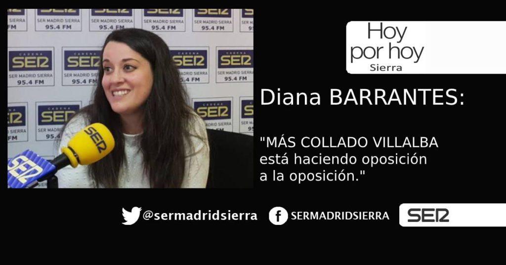 HOY POR HOY. Diana Barrantes: «Más Collado Villalba es la oposición de la oposición»