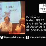 HOY POR HOY.Isabel Pérez replica al abogado de los propietarios del Canto del Pico