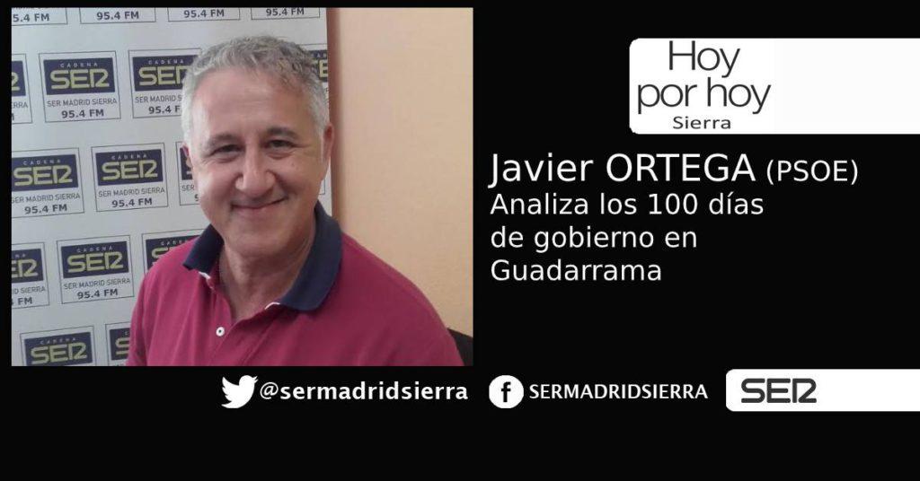 HOY POR HOY. Javier Ortega nos da su versión de 100 días de gobierno en Guadarrama