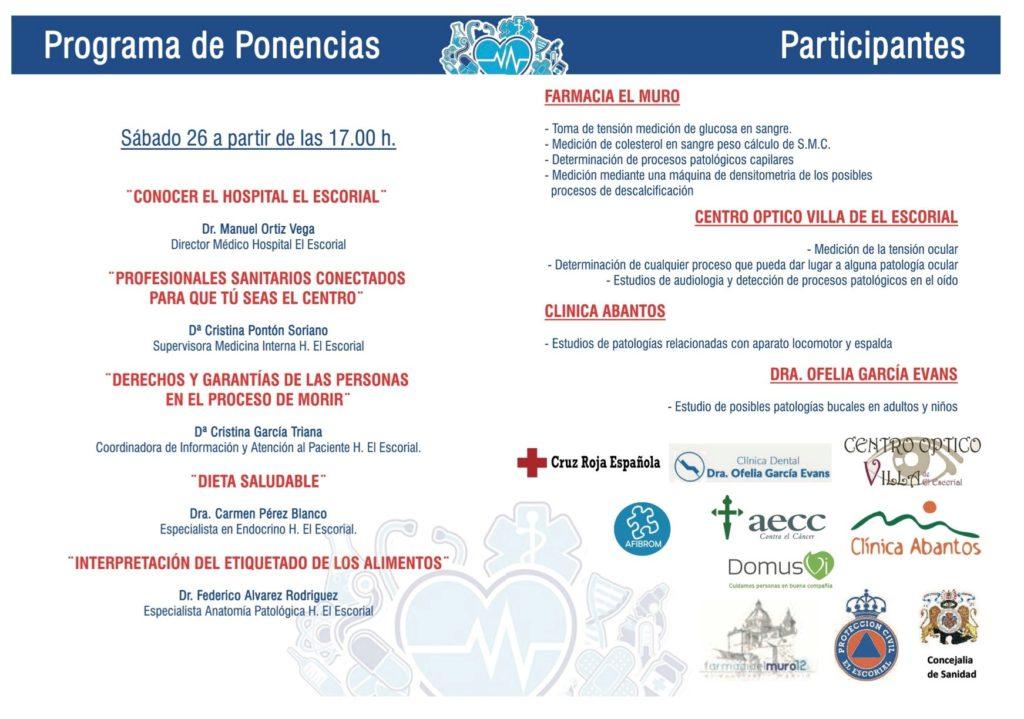 Los días 26 y 27 de octubre, Feria de la Salud en El Escorial