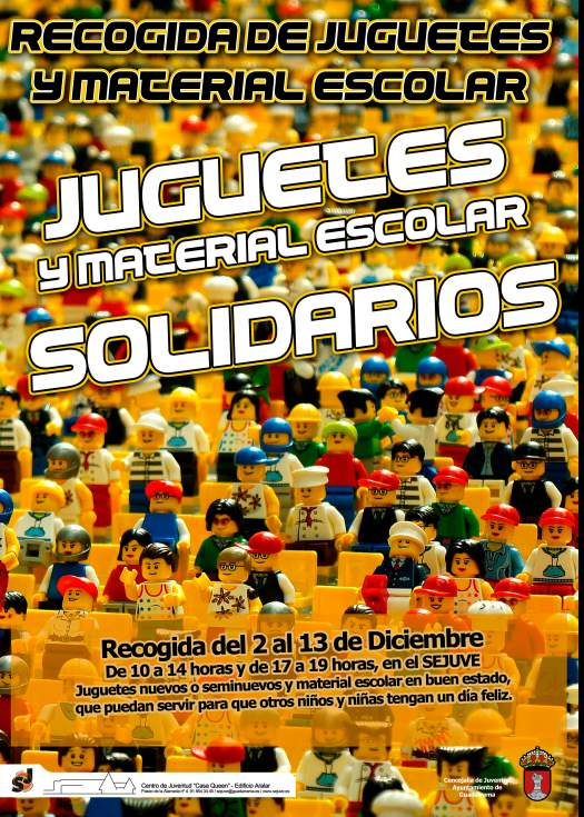 SEJUVE pone en marcha una nueva campaña solidaria de recogida de juguetes y material escolar