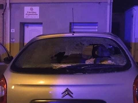 Vandalismo en la «noche de Halloween» en Colmenarejo