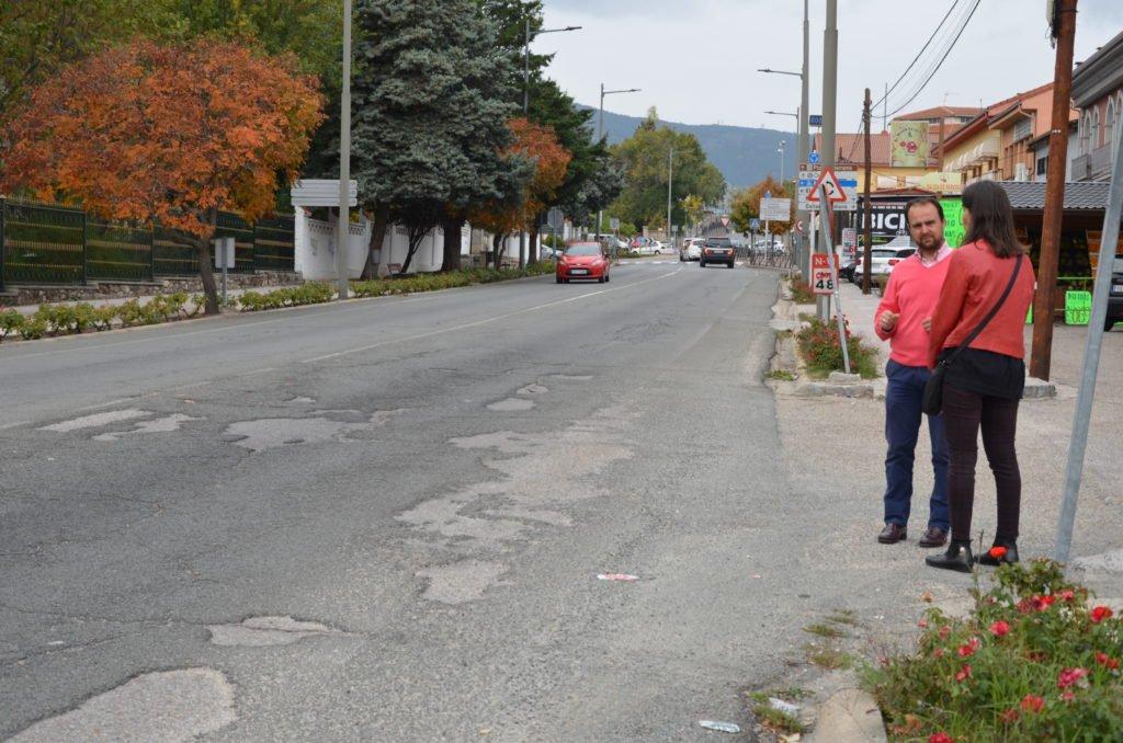 Campaña de asfaltado en Guadarrama