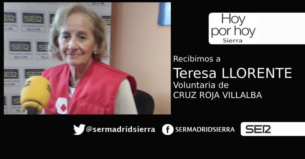 HOY POR HOY. Recibimos a Teresa Llorente, voluntaria de Cruz Roja Villalba