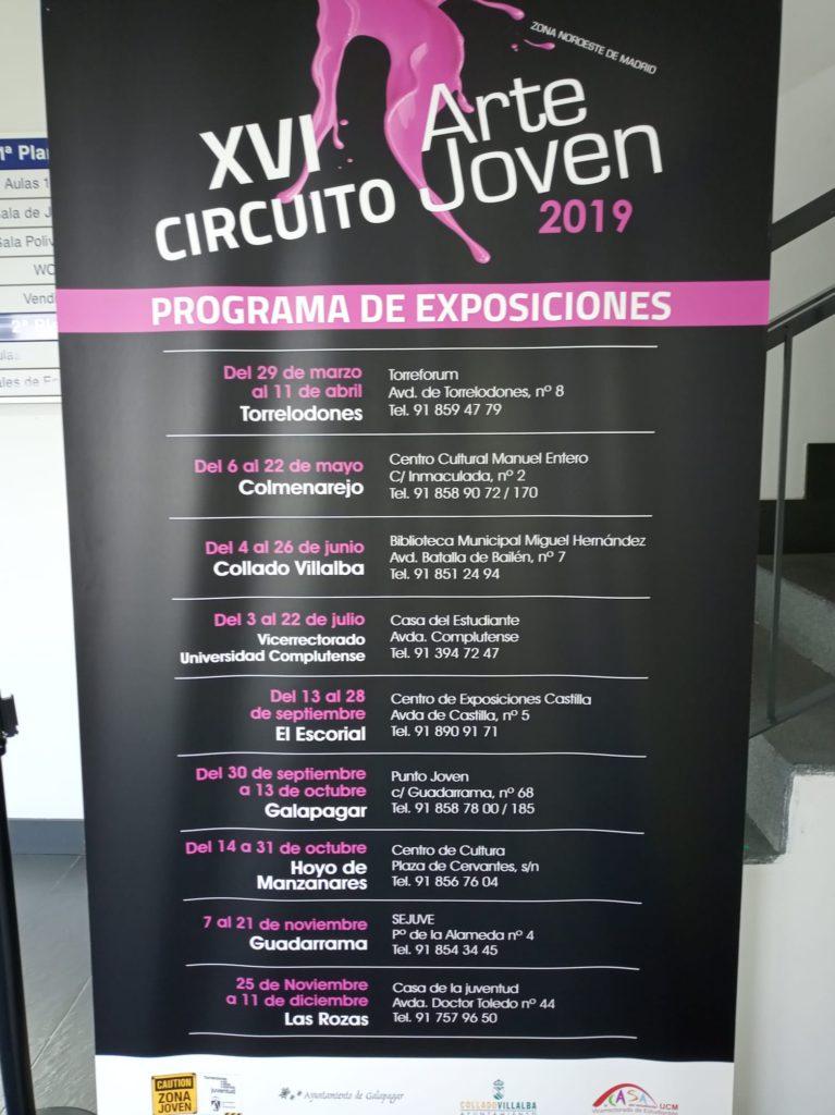 El SEJUVE de Guadarrama expone los trabajos ganadores del Circuito Arte Joven
