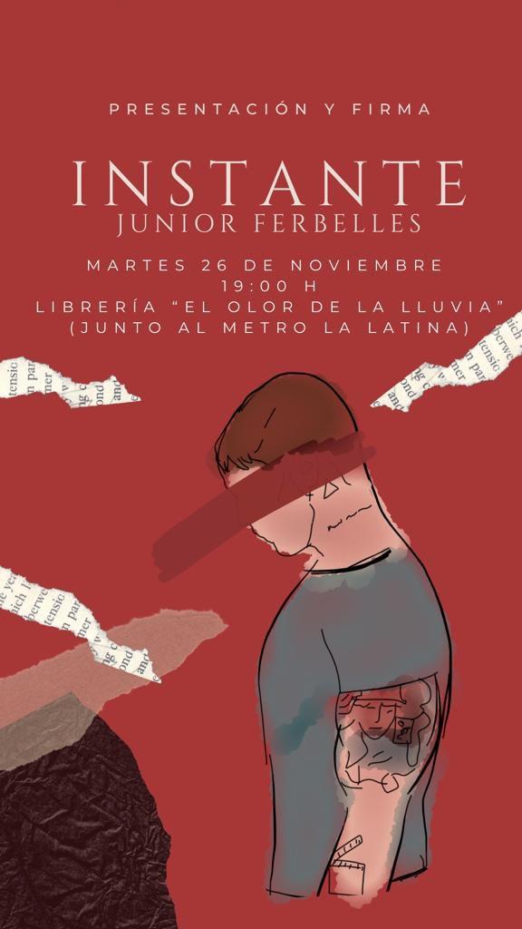 MÁS DE UNO SIERRA – El cantante Junior Ferbelles presenta su primer libro Instantes