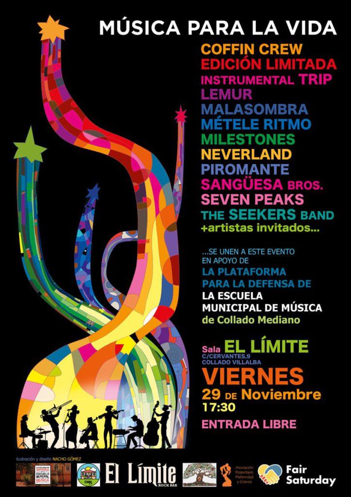 MÁS DE UNO SIERRA – Concierto en Villalba «Música para la vida», Deportes y Contraportada