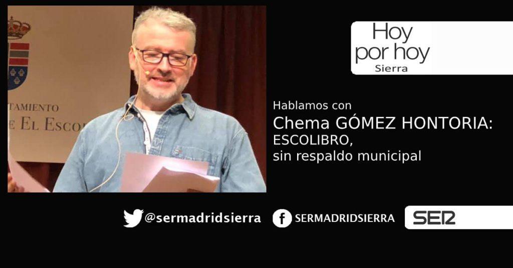 HOY POR HOY. Hablamos con Chema Gómez Hontoria sobre ESCOLIBRO