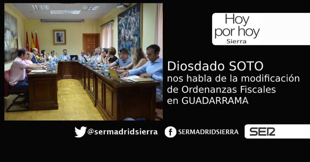 HOY POR HOY. Hablamos con Diosdado Soto de la modificación de Ordenanzas en Guadarrama