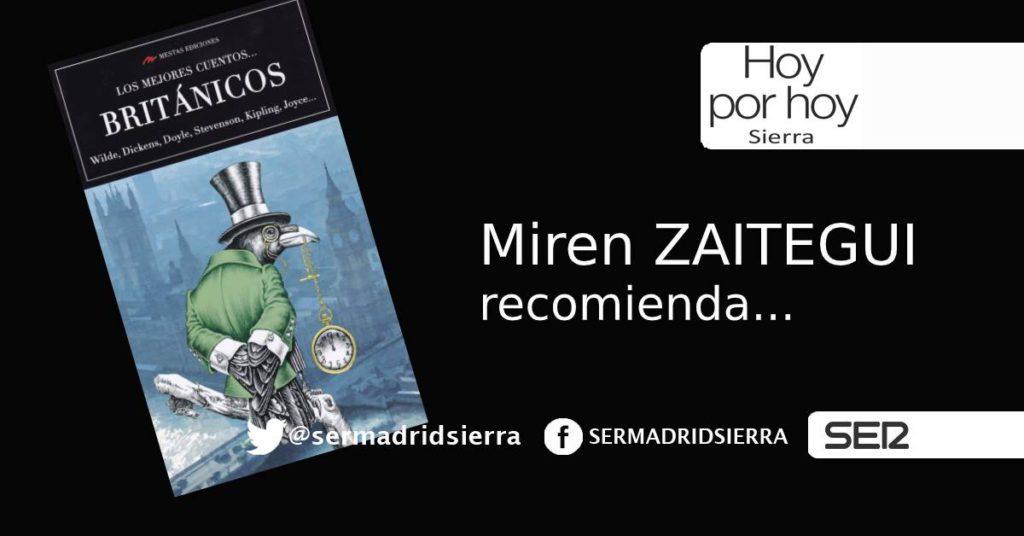 HOY POR HOY. Miren Zaitegui y la lectura recomendada para el fin de semana