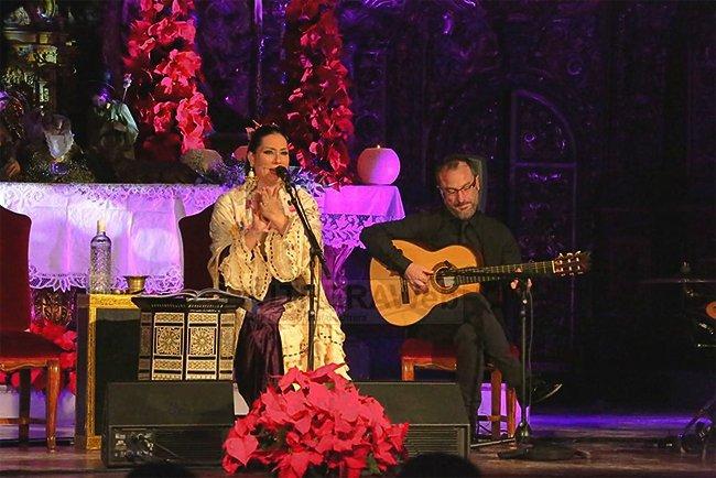 La cantaora Marina Heredia, en concierto, en Torrelodones