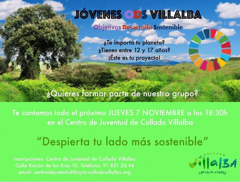 El Ayuntamiento de Collado Villalba pone en marcha un proyecto juvenil para promover el desarrollo sostenible