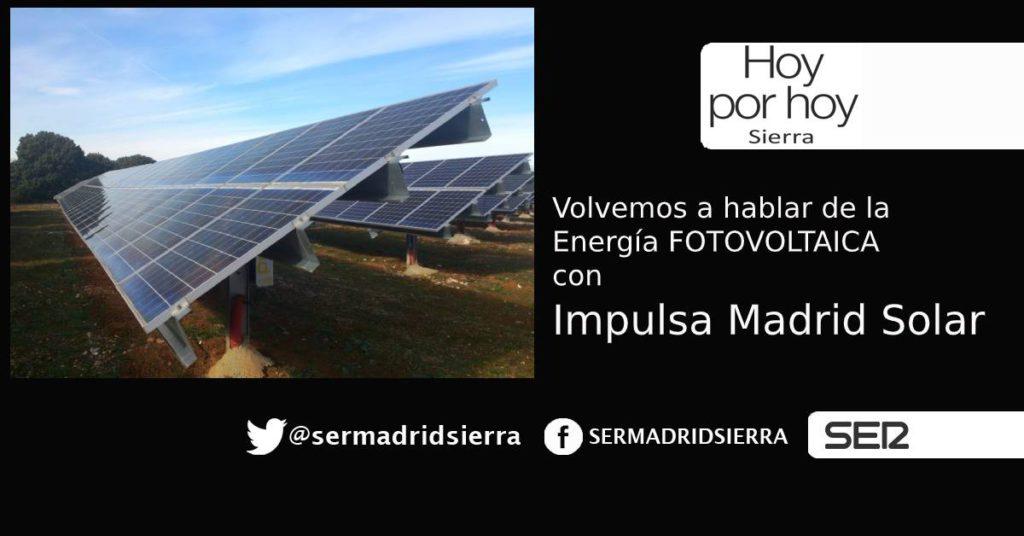HOY POR HOY. Se presenta la iniciativa Impulsa Madrid Solar con «Som Energía»