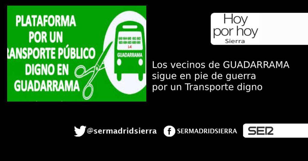 HOY POR HOY. Nueva concentración por un transporte digno en Guadarrama
