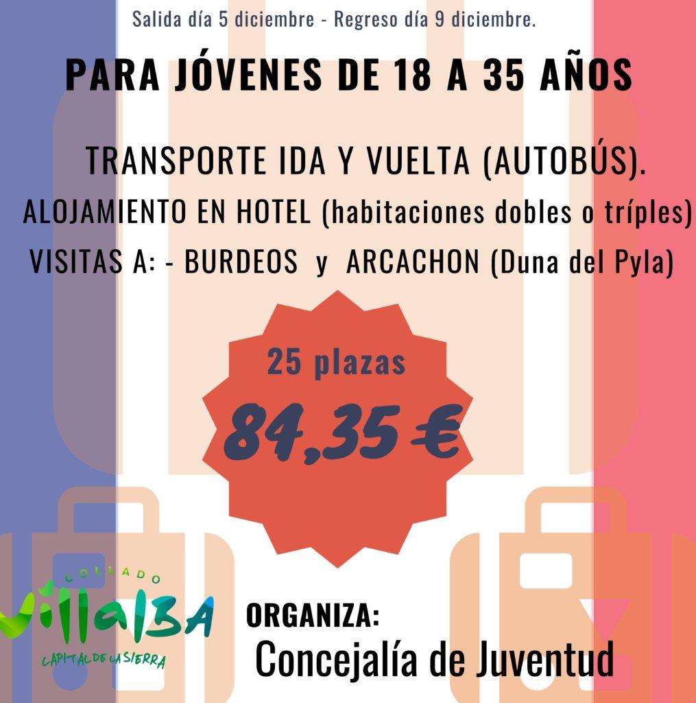 El Ayuntamiento de Collado Villalba propone un viaje a Bègles para el puente de la Constitución