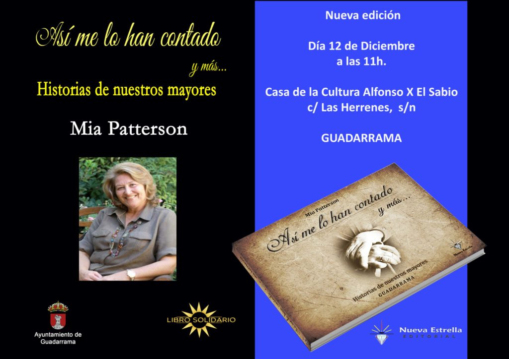 MÁS DE UNO SIERRA – Historia de nuestros mayores, la segunda edición de Mia Patterson