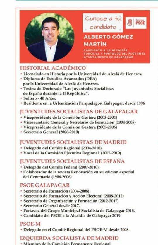 Denuncian un nuevo caso de «falso currículum» en el PSOE de Galapagar
