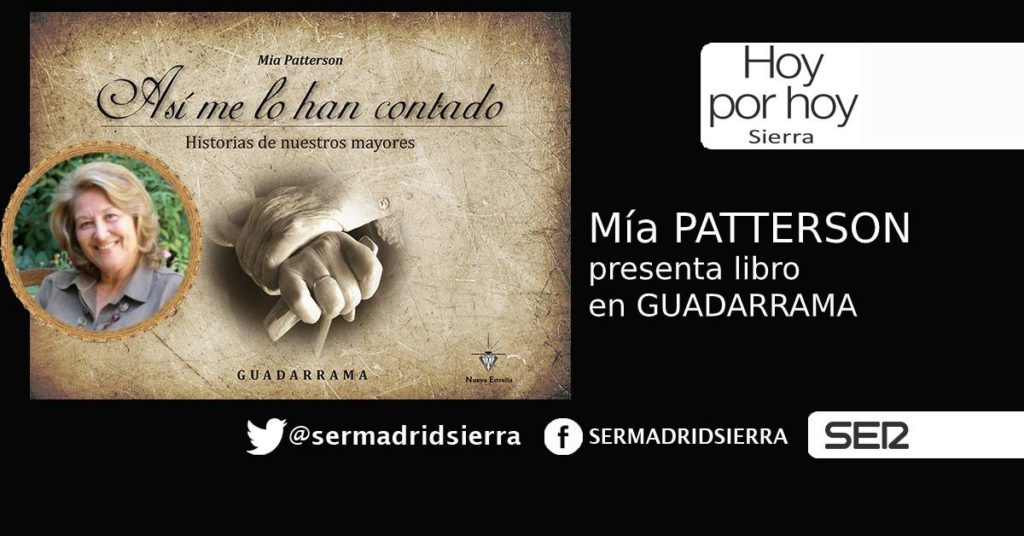 HOY POR HOY. Mía Patterson presenta libro en Guiadarrama
