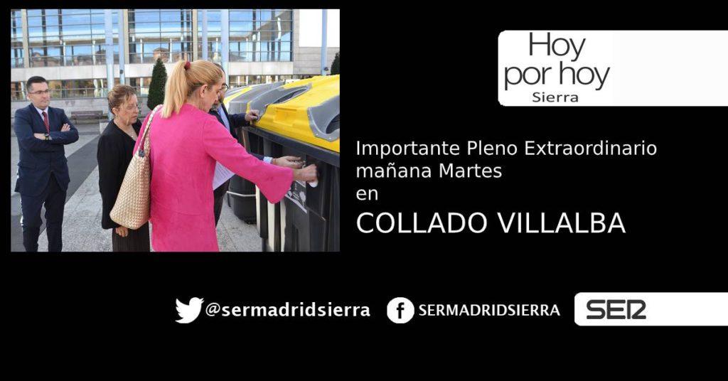 HOY POR HOY. Ante el pleno extraordinario de mañana en Collado Villalba