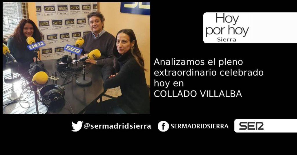 HOY POR HOY. Analizamos detalles del Pleno Extraordinario de hoy en C. Villalba