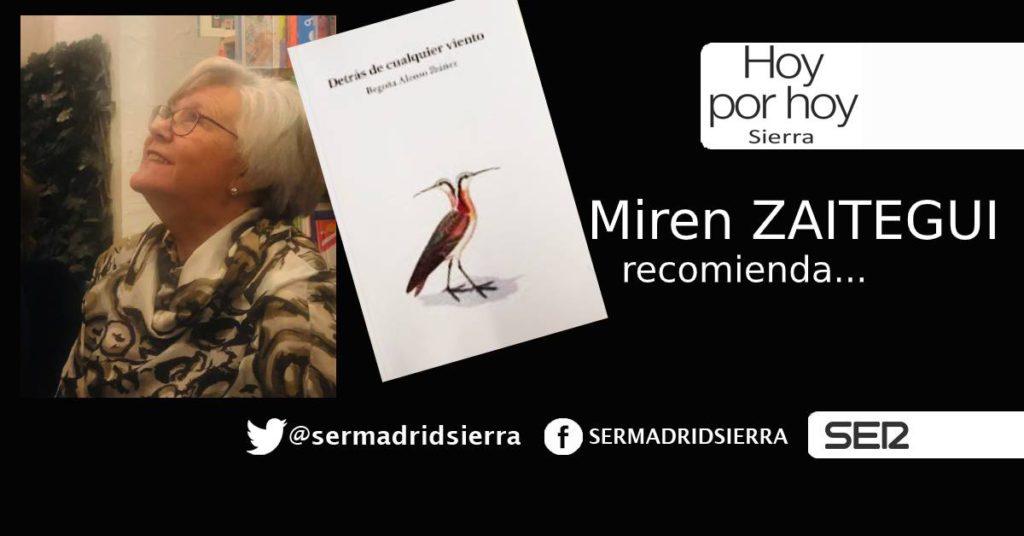 HOY POR HOY. Miren Zaitegui recomienda lectura para el fin de semana