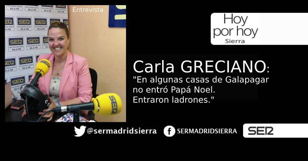 HOY POR HOY. Carla Greciano y la creciente inseguridad en Galapagar
