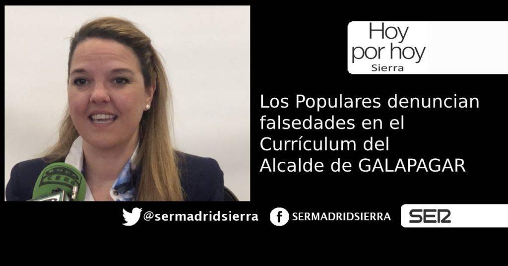 HOY POR HOY. El PP denuncia falsedades en el Curriculum del Alcalde de Galapagar