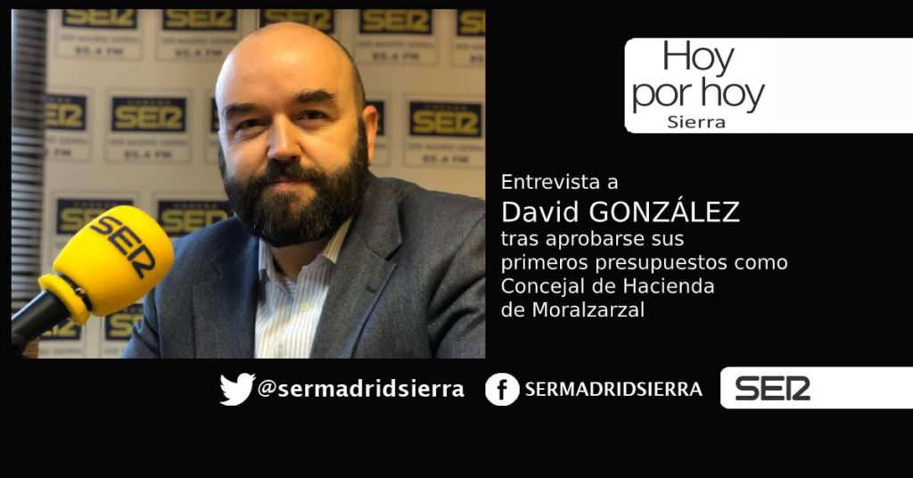 HOY POR HOY. Entrevista al concejal de Hacienda de Moralzarzal, David González