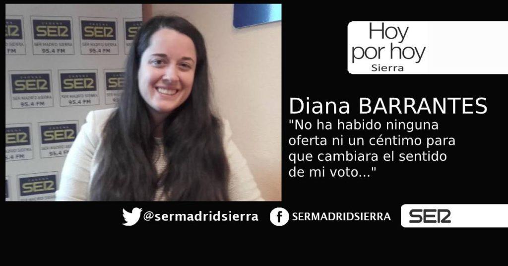 HOY POR HOY. Entrevista a DIANA BARRANTES (Vecinos por C. Villalba)