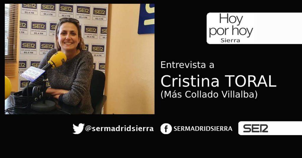 HOY POR HOY. Entrevista con Cristina Toral, de Más Collado Villalba