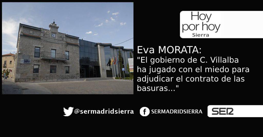 HOY POR HOY. Eva Morata: «Se adjudicará un contrato de basuras bajo los efectos del miedo»