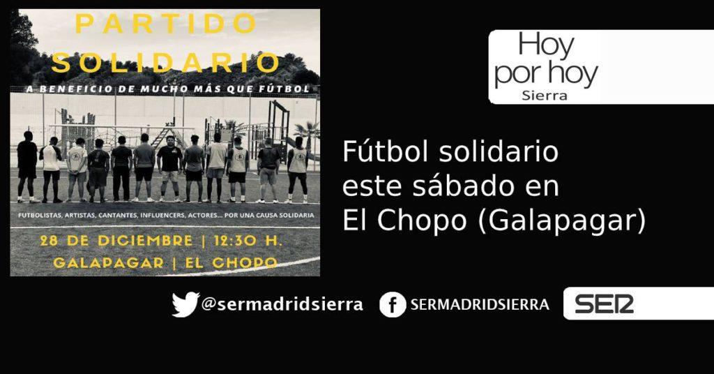 HOY POR HOY. Este sábado, fútbol Solidario en Galapagar
